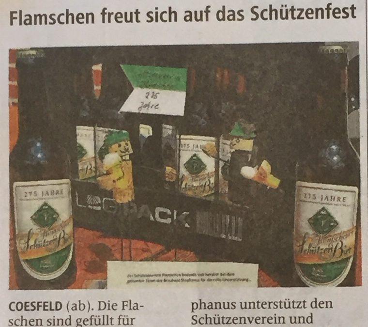 Das Flamschener Schützen Bier