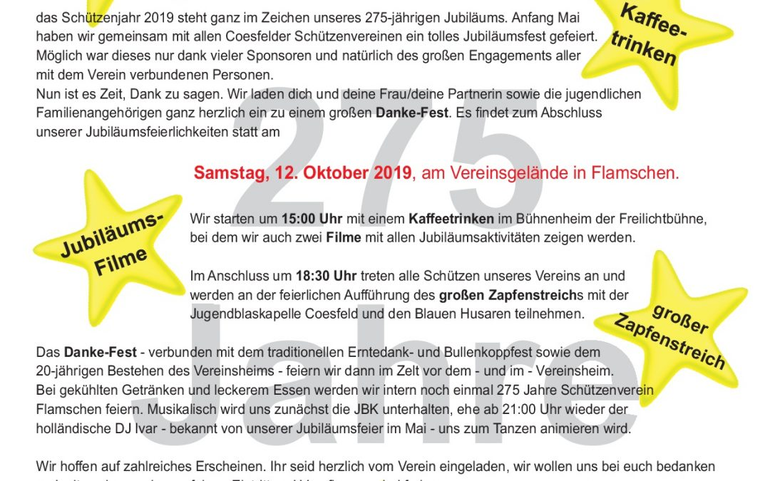 12.10.2019 Großes Danke-Fest